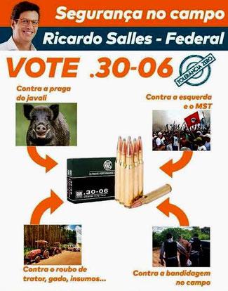 Ricardo Salles valgplakat