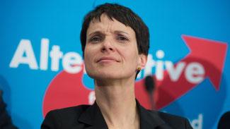 """Die AfD-Vorsitzende Frauke Petry sieht den Begriff """"völkisch"""" zu Unrecht verunglimpft. © Lukas Schulze/dpa"""