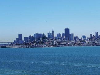 Blick von Alcatraz auf San Francisco