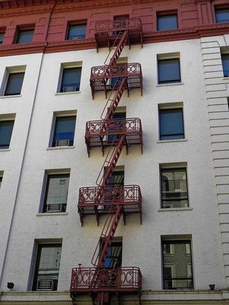 Häuserfassade in SF