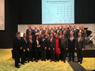 Die Gründungsmitglieder der Metropolregion Rheinland bei der Gründungsveranstaltung in Düsseldorf. Foto: Oberbergischer Kreis