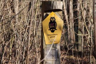 Hinweis Naturschutzgebiet