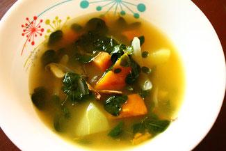 野菜たっぷりスープ!毎食スープをお楽しみください♪