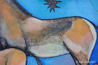 Painting from the Mongolian artist Anu Naran (detail)