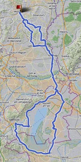 Gesamttour 324km
