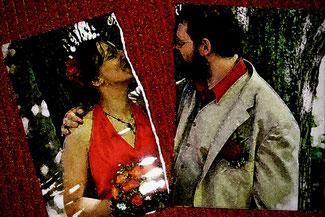 Scheidung: zerrissenes Hochzeitsfoto