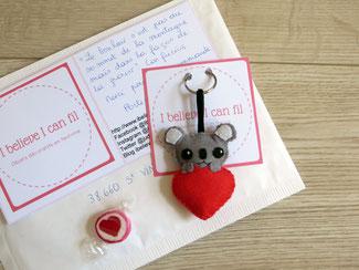 Cadeau pour amoureux fait main