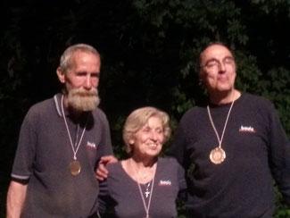 LM Verteran 2015  Elfie Baluch, Ulli Brülls und Manfred Wölk