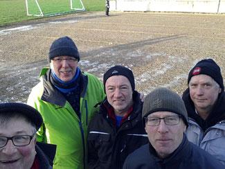 5 aus Alfeld: M. Schille-Schumacher, Klaus Hanßen, Wolfgang Koch, Frank Schomburg und Peter Meyer.