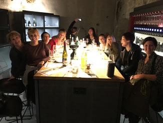 Nach-Workshop Weinprobe für eine Firma aus den USA.
