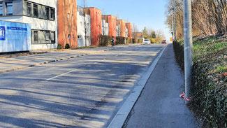 Radweg Aldinger Straße wird auf 2m + 0,5m verbreitert