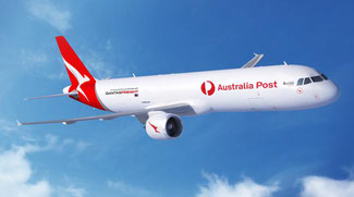 The Dresden, Germany P2F converted A321 can accommodate up to 29 tons of air freight  -  courtesy Australian Post