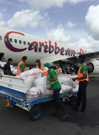 Caribbean Airlines flew cargo on board a pax B737-800 from Guyana to Cuba  -  photo: carrier