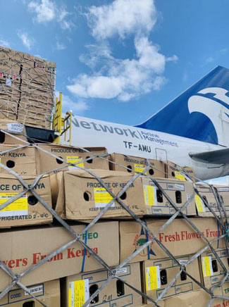 100 tons of flowers headed for Europe. Image: Network Aviation Group