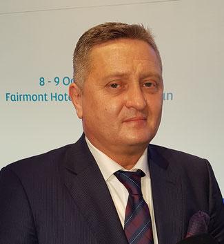 President Wolfgang Meier of Azeri freight carrier SilkWay West…  -  photo: hs/CFG