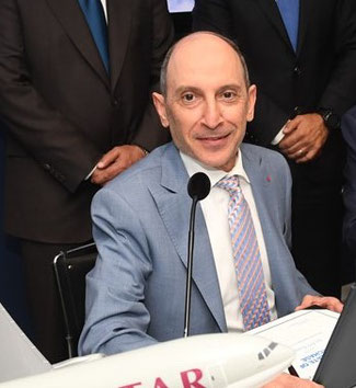 Qatar Airways CEO Akbar Al Baker earned much applause at the Paris Air Show for his B777X freighter advance – picture: Boeing