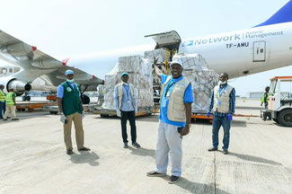 Vital supplies delivered in Abuja, 30APR20 - Image courtesy TIACA Tweet