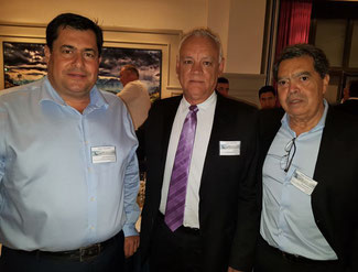 José Antonio de Oliveira Ferreira of Tri-Star North America (left), Alvaro Martins (center) and Fernando Bimont of Tri-Star Brazil