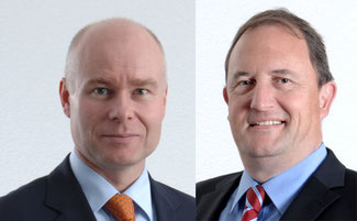 Left: Mark Skinner takes on the position of SVP Business Development & Sales for EMEA. Right: Rudolf Steiner (photos Swissport) becomes SVP Cargo EMEA