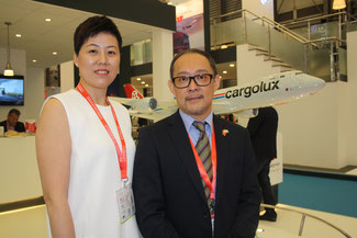 Cargolux executives Janet Jiang and Kevin Shek  -  pictures hs