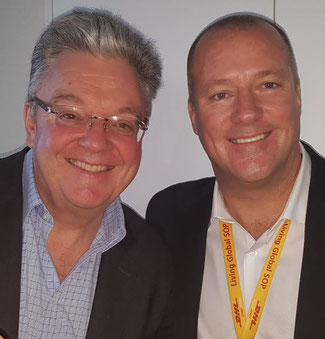 CEO John Pearson of DHL Express (left) and EVP Global Network Ops, Travis Cobb, illustrated the company's 2025 strategy  -  photos: CargoForwarder / hs
