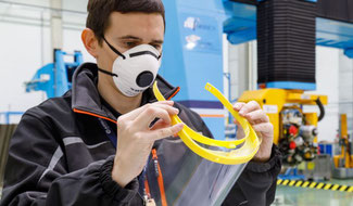 Airbus prints 3-D visor frames to combat COVID-19  -  Image courtesy of Airbus