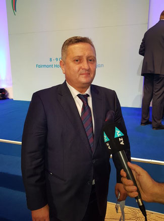 Silk Way West Airlines' chief Wolfgang Meier was a wanted interviewee at the Baku-held cargo event  -  photo: hs