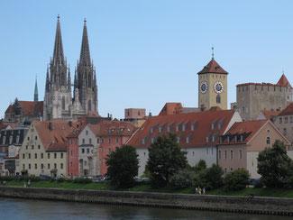 Im Sommer wie im Winter sehenswert: Die Altstadt von Regensburg zählt zu den schönsten in Deutschland.