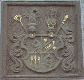 Wappen der Maria Gertrudis von Ichtrazheim (1715-1755), Äbtissin von Frauenalb