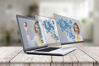 Bildschirme mit digitalen Daten