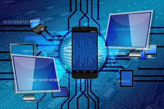 Handy, Computer und Datenströme