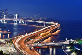 Brücke in Busan, Südkorea