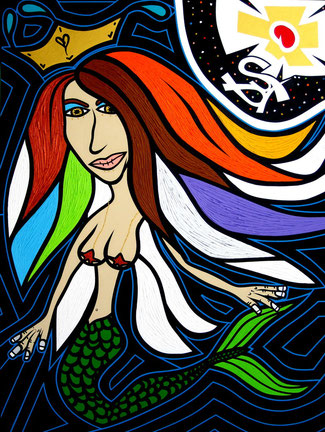 Sirena / 40 x 30 inches.