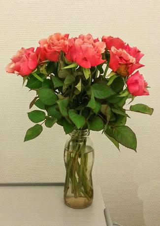 © Traudi - Diese Rosen überreichte mir mein Zimmernachbar, als er aus der Klinik entlassen wurde. Danke lieber B.