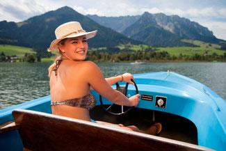 Bootfahren auf dem Walchsee