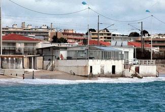 Restaurant détruit en 2013 à Juan-les-pins