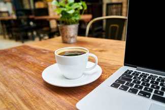 Das eigene Büro im Café