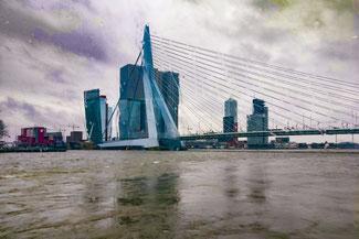 Skyline, Rotterdam, Niederlande, Die Traumreiser, Erasmusbrücke