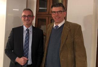 v.l. Dr. Werner Pfeil MdL, Dietrich Steinmetz (FDP Mechernich)