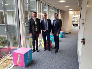 im Gespräch mit dem Verband Bildung & Erziehung, v.l. Matthias Richter, Dr. Werner Pfeil MdL und  Matthias Kürten