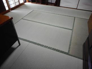 国産熊本県産の畳の中で人気の「上級品」で新畳を施工納品した写真