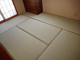 中国産の畳おもてで表替えをした八王子市施工例