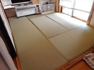 東京都あきる野市K様 ビニール畳セキスイ美草と天然イグサの畳2部屋同時にご注文