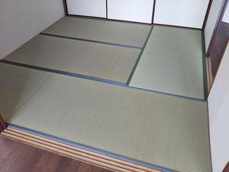 リビング続きの和室の畳表替え