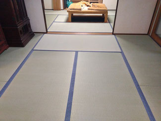 国産(熊本県産)の上質畳おもてで表替え