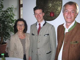 Renate Frohnhöfer, Max Graf Nesselrode, Johannes Remmel (v.l.n.r.)