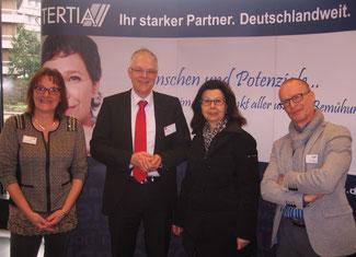 von links nach rechts: Ellen Weißenfels, Ralf Holtkötter, Renate Frohnhöfer, Thomas May