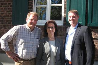v.l.n.r. Peter Capellmann, Renate Frohnhöfer, Bernd Bulich