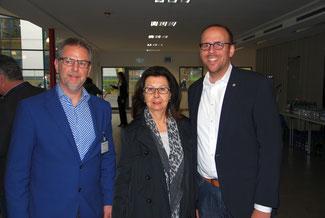 Thomas Wagner (Bildungsdezernent des Rhein-Sieg-Kreises), Renate Frohnhöfer und Jörn Freynick MdL