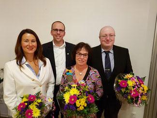 von links nach rechts: Jennifer Kotulla, Jörn Freynick, Dagmar Ziegner, Heinrich Euteneuer